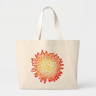 Graphic Sunflower Design Tote Jumbo Tote Bag