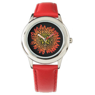 Graphic Sunflower Design Watch