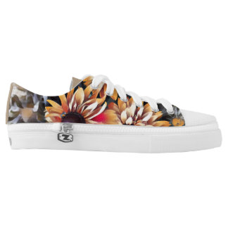 Graphic Sunflower Low Tops