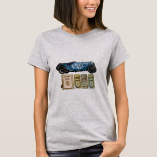 Graphic t-shirt with blue vintage car