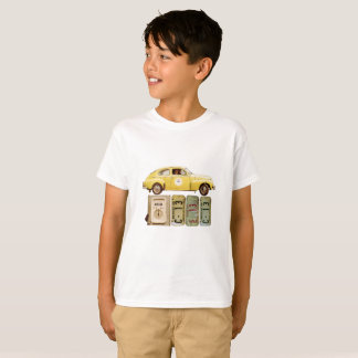 Graphic t-shirt with yellow vintage car