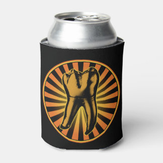 Graphic Tooth Emblem Can Cooler