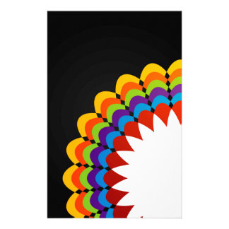 Graphic with colorful flora custom stationery