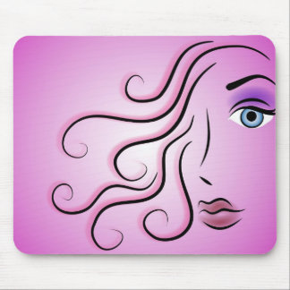 Graphic Woman Mouse Pad