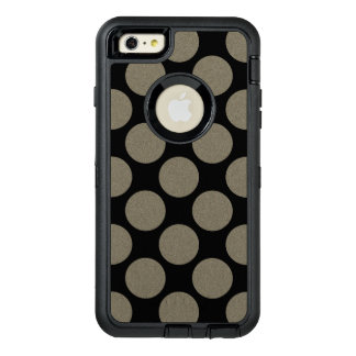 Graphical Diagonal Polka Dots any Colour on Black OtterBox iPhone 6/6s Plus Case