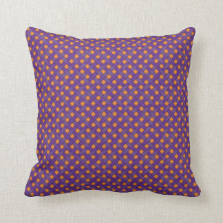 Graphical Woven Rattan Purple on Custom Orange Cushion