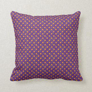 Graphical Woven Rattan Purple on Custom Orange Cushion