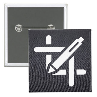 Graphics Croppers Icon 15 Cm Square Badge