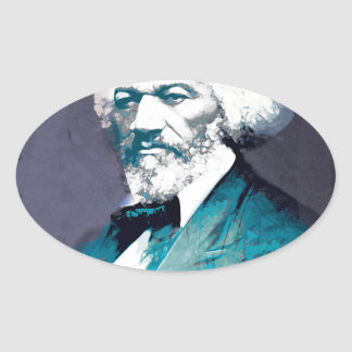 Graphics Depot - Frederick Douglass Portrait Oval Sticker