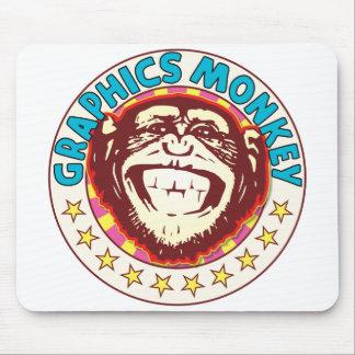 Graphics Monkey Mouse Pad