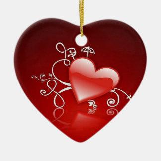 Graphics of St. Valentine's day - Ceramic Heart Decoration
