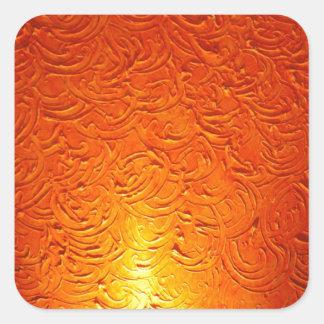 Graphite Fire Burn Smoke Abstract Metal Rusty Anti Square Sticker