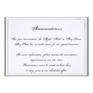 Graphite Grey Filigree Posh Wedding Insert Personalized Invite