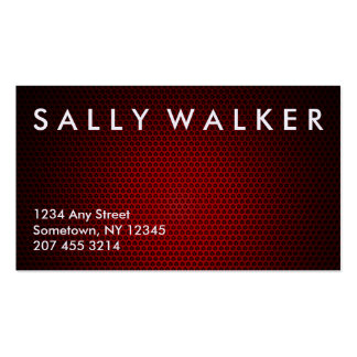 Graphite red smart marketing business card