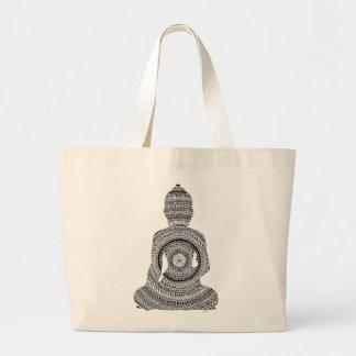 GraphiZen Buddha Large Tote Bag