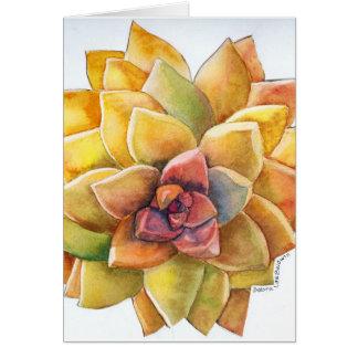 Graptopetalum watercolor card