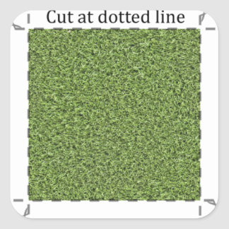 Grass 1-inch Decal Square Sticker