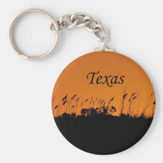 Grass against a Sunset Texas Coast Keychain