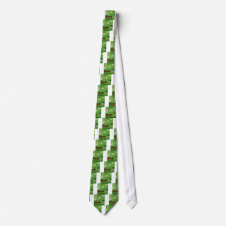 Grass and flowers tie