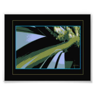 Grass and Heather Abstract Silk Screen Photo Print