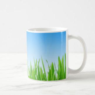 Grass and sky coffee mug