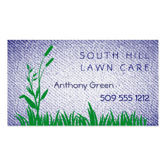 Grass and Weed Textured Look Background Business Card Templates