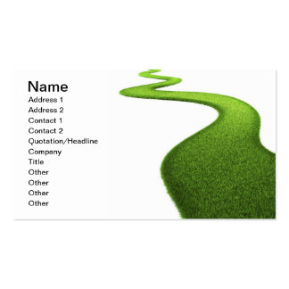 Grass Background. Fresh Green Lawn Double-Sided Standard Business Cards (Pack Of 100)