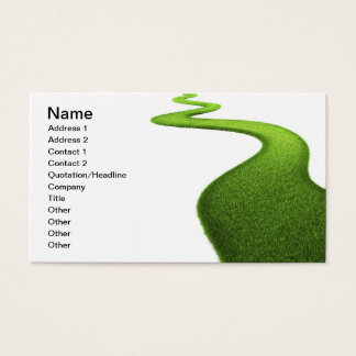 Grass Background. Fresh Green Lawn Business Card