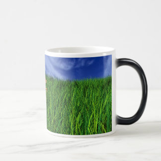 grass, cat, The-king-of-Elphia 11 Oz Magic Heat Color-Changing Coffee Mug