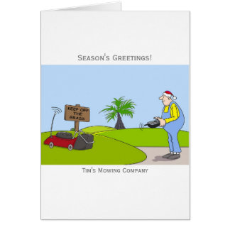 Grass Cutting Service Customisable Christmas Card