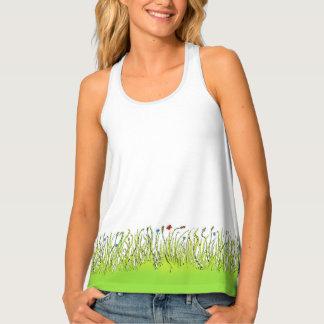 Grass design on a woman`s singlet. singlet