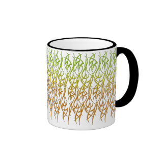 Grass Design Ringer Mug