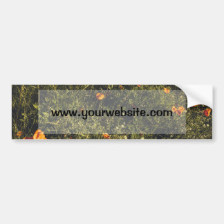 Grass Field With Wild Flowers and Poppies Car Bumper Sticker