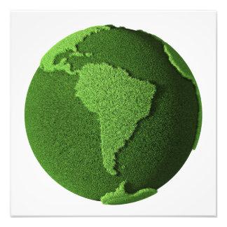 Grass Globe - South America Photo Art