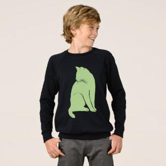 Grass green cat sweatshirt