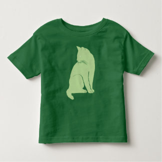 Grass green cat toddler T-Shirt
