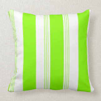Grass Green Reversible Candy Stripe & Solid Pillow