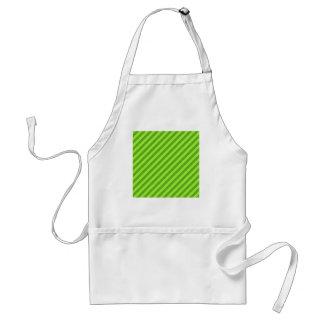 Grass Green Stripes. Standard Apron