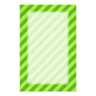 Grass Green Stripes. Customized Stationery