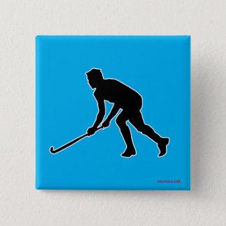 Grass Hockey Player 15 Cm Square Badge