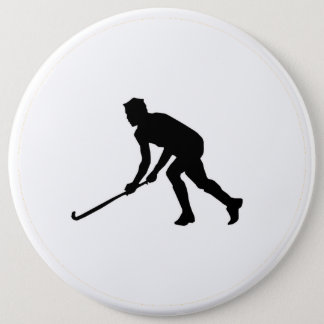 Grass Hockey Player 6 Cm Round Badge
