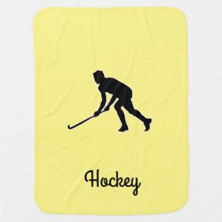 Grass Hockey Player Baby Blanket