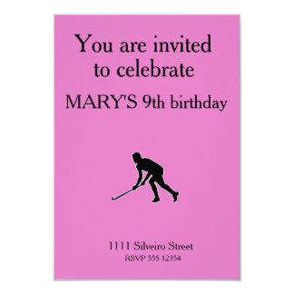 Grass Hockey Player Card