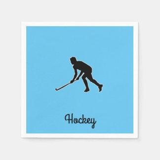 Grass Hockey Player Disposable Serviette