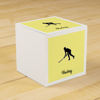 Grass Hockey Player Favour Box