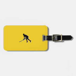 Grass Hockey Player Luggage Tag