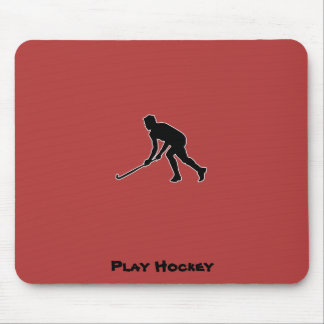 Grass Hockey Player Mouse Pad