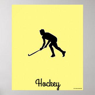 Grass Hockey Player Poster