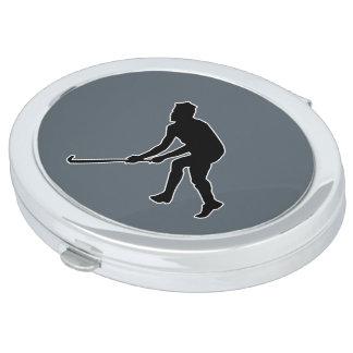 Grass Hockey Player Travel Mirror