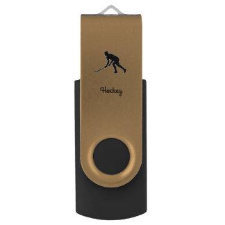 Grass Hockey Player USB Flash Drive